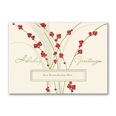 Gleaming Berries - Holiday Card