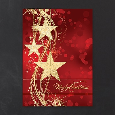 Glitzy Stars - Holiday Card