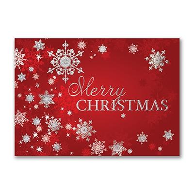 Silver Snowflakes - Christmas Card