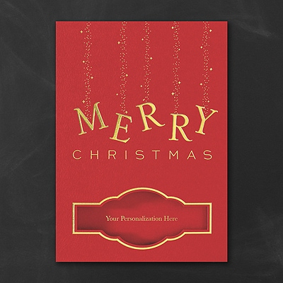 Sparkle of Gold - Christmas Card