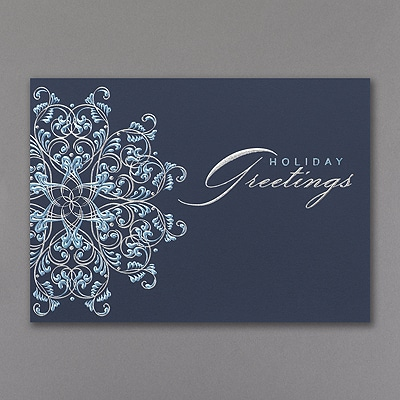 Snowflake Greetings - Holiday Card