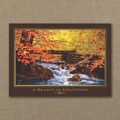 Autumn's Stream Thanksgiving Card