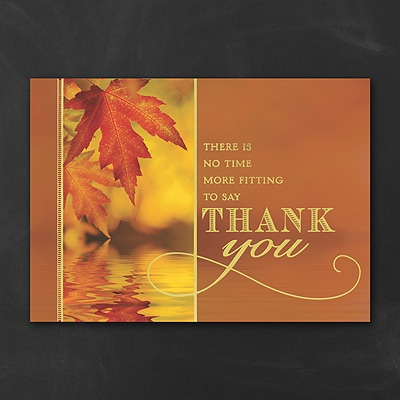 Autumn Thank You - Thanksgiving Card