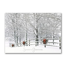 Holiday Fence - Holiday Card