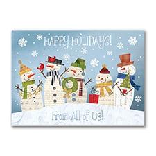 Happy Snowmen - Holiday Card