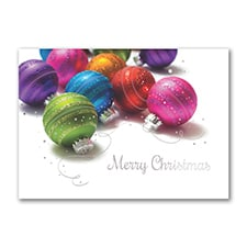 Colored Ornaments - Christmas Card