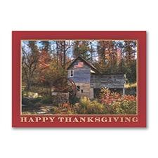 Patriotic Thanksgiving Scene - Thanksgiving Card
