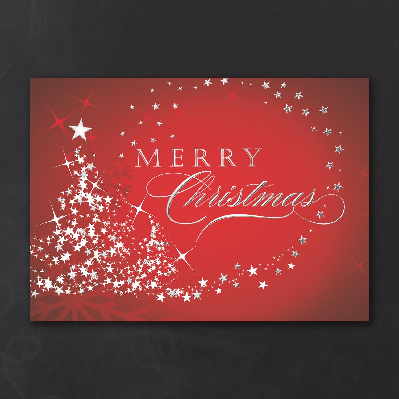 Starry Tree Merry Christmas - Christmas Card > Christmas Cards ...