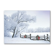 Frosty Winter Scene - Holiday Card