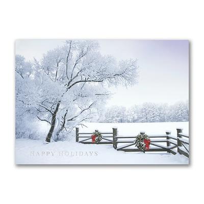 Frosty Winter Scene - Holiday Card