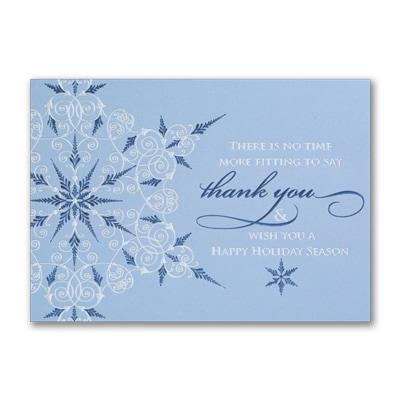 Business thank you snowflake seasons greetings cards carlson business thank you snowflake m4hsunfo