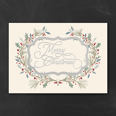 Festooned Beauty - Christmas Card