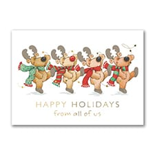 Reindeer Troop - Holiday Card