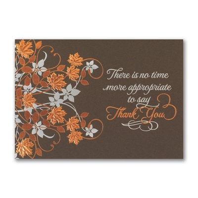 Thankful Appreciation - Thanksgiving Card