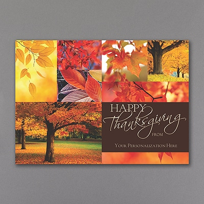 Autumn Art Thanksgiving Card