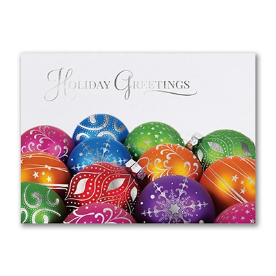 Bright Ornaments - Holiday Card