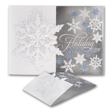 Subtle Snowflakes - Holiday Card