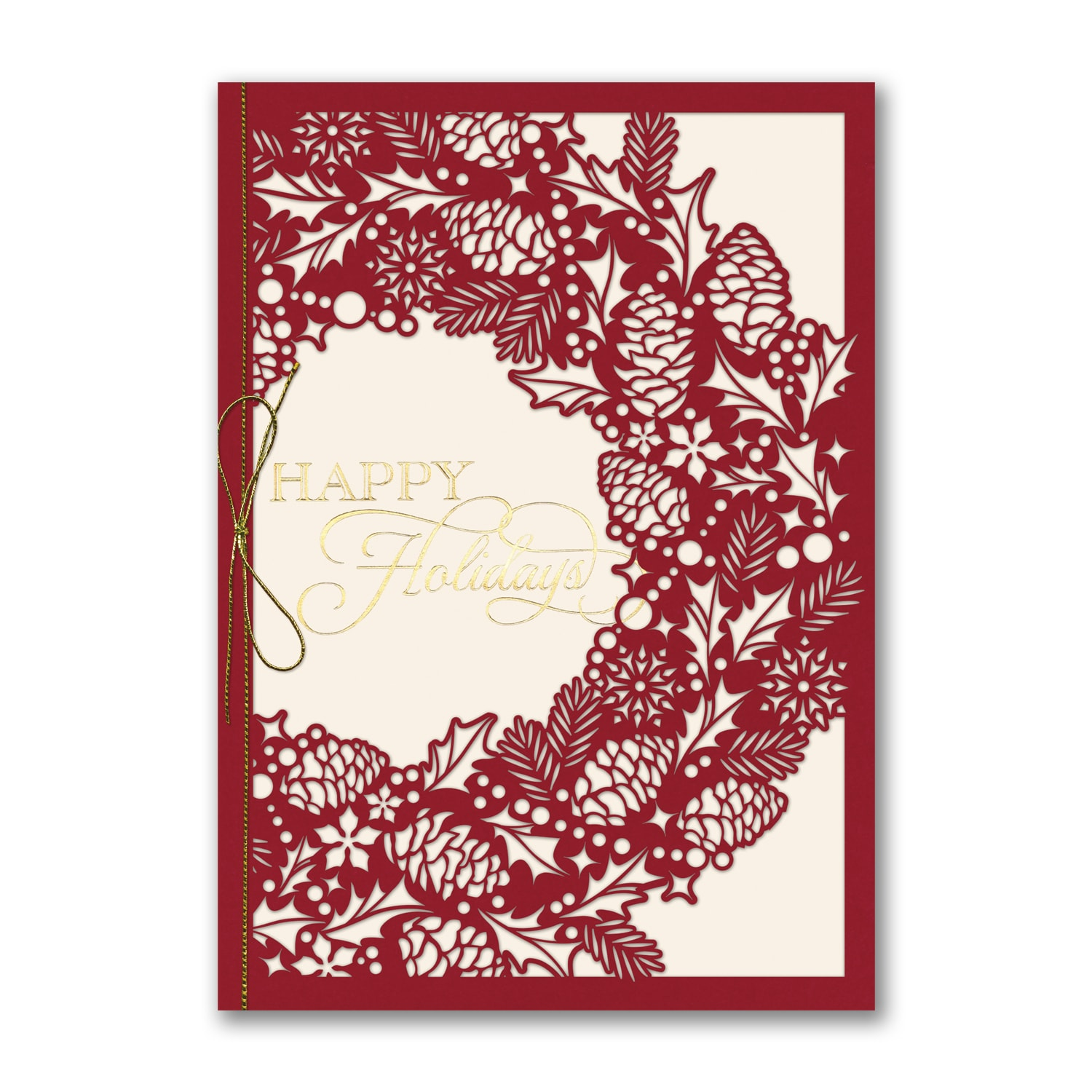 Intricate Wreath - Holiday Card > Season\'s Greetings Cards   Forever ...