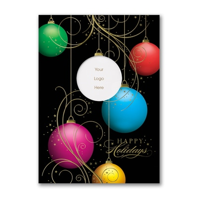 Decorated Ornaments - Holiday Card
