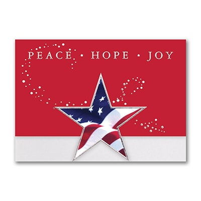 patriotic greeting holiday card - Patriotic Christmas Cards