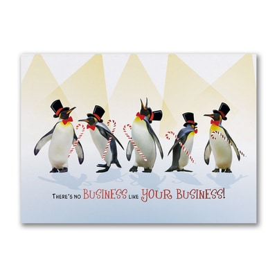 Grateful Penguins - Holiday Card