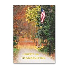 Patriotic Thanksgiving - Thanksgiving Card