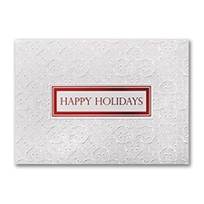 Embossed Satin - Holiday Card
