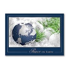Peaceful Globe - Christmas Card