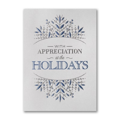 Snowflake Appreciation - Holiday Card