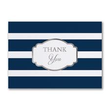 Stylish Stripes - Thank You Card