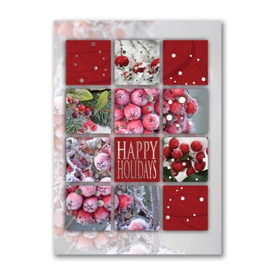 Frosty Berry Collage - Holiday Card