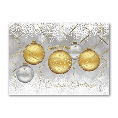 Golden Ornaments - Holiday Card