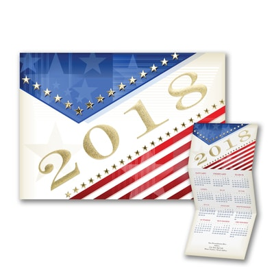 Red White and Blue - Calendar Card