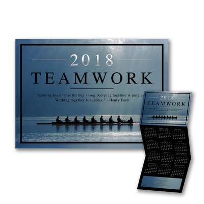 Teamwork Success - Calendar Card
