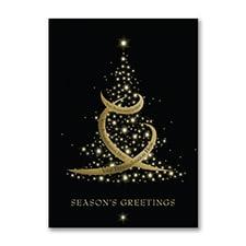Sparkling Christmas Tree - Holiday Card