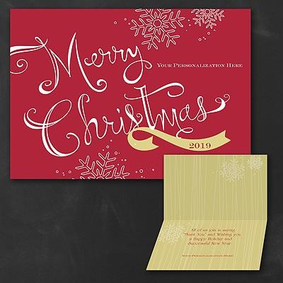 Christmas Banner Folder - Christmas Card