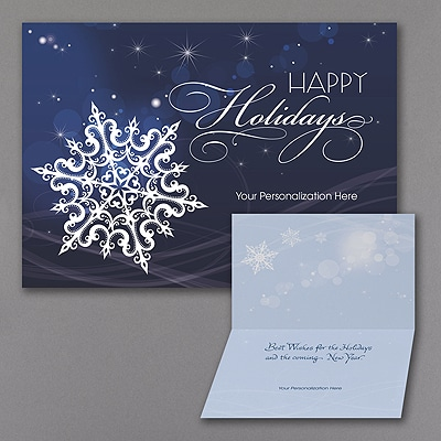 Falling Snowflakes - Holiday Card