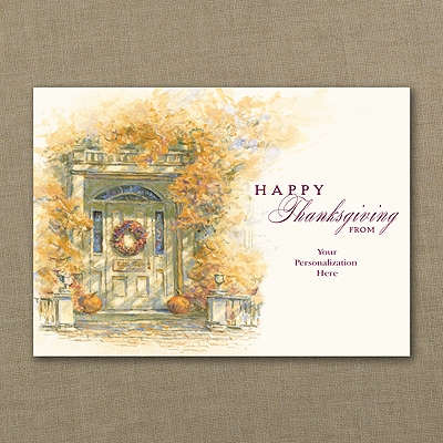 Autumn Foliage Thanksgiving Card