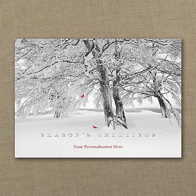 Cardinal Greetings - Holiday Card - Front Imprint