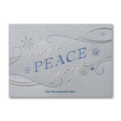 Peace, Hope and Joy - Holiday Card