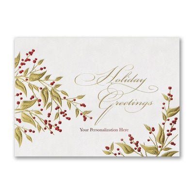 Classic Leaves - Holiday Card - Front Imprint
