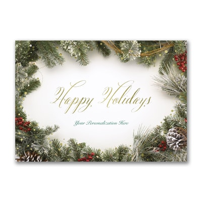 Berries and Greenery - Holiday Card
