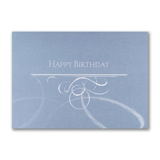 Swirls of Happiness - Birthday Card