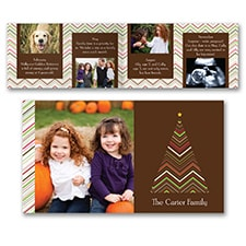 Chevron Tree Storyline - Photo Holiday Card