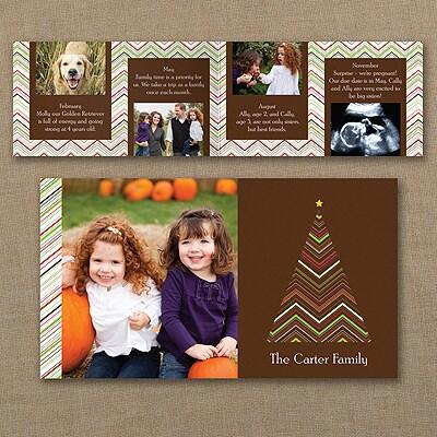 Chevron Tree Storyline - Photo Holiday Card