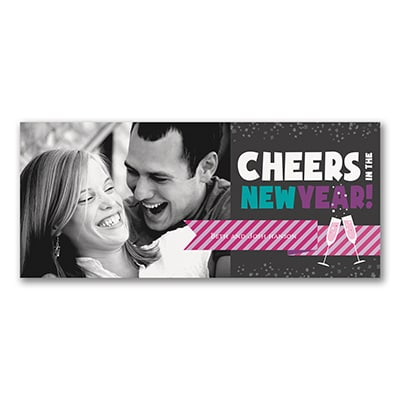 new year cheer photo holiday card ebony
