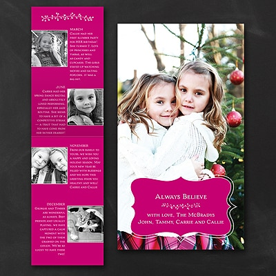 Little Garland Storyline - Photo Holiday Card - Bordeaux