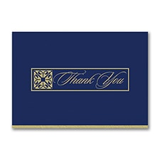 Gilded Thank You Postcard