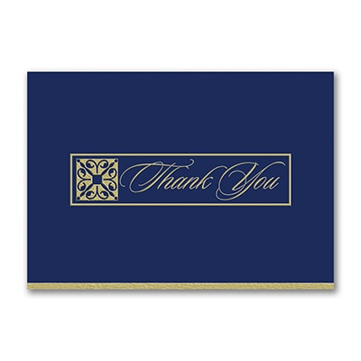 Gilded Thank You Postcard