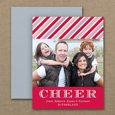 Cheerful Stripes - Photo Holiday Magnet